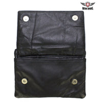 best-motorcyle-vest - Studded Naked Cowhide Leather CCW Holster Belt Bag with Red & Silver Butterfly - Dream Apparel® - Wallets Chains Belt-loop Purses Bags and Hip-bags