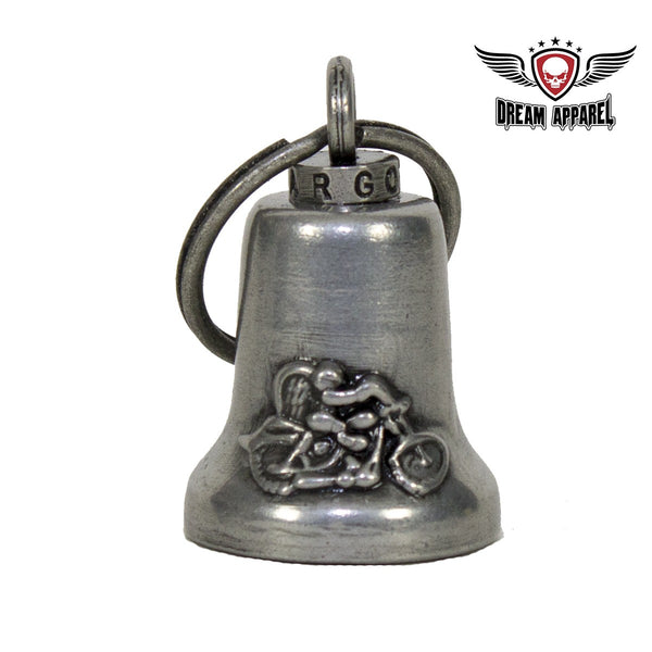 best-motorcyle-vest - Gun Metal Guardian Angel Gargoyle Bell w/ Carrier Bag - Club Vest Biker Motorcycle Apparel & Accessories - motorcycle bells