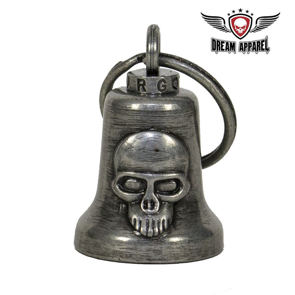 best-motorcyle-vest - Gun Metal Skull Gargoyle Bell w/ Carrier Bag - Club Vest Biker Motorcycle Apparel & Accessories - motorcycle bells