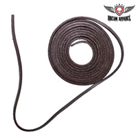 6' Feet Brown Leather Laces - Club Vest Biker Motorcycle Apparel & Accessories