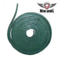 best-motorcyle-vest - 6' Feet Green Leather Laces - Dream Apparel® - vest extenders