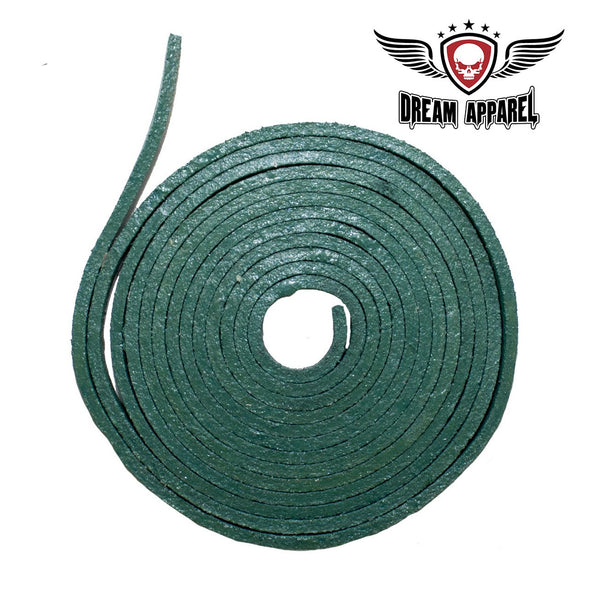 6' Feet Green Leather Laces - Club Vest Biker Motorcycle Apparel & Accessories