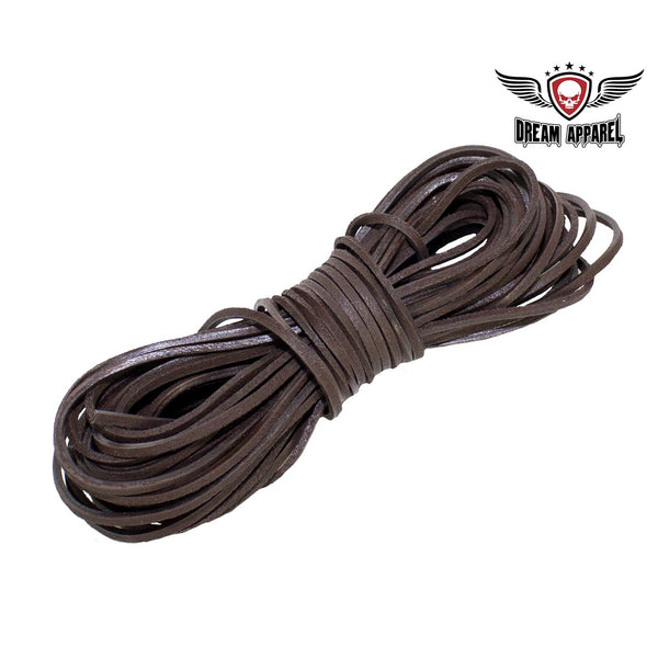 best-motorcyle-vest - 50 FT Leather Laces - Brown - Dream Apparel® - vest extenders