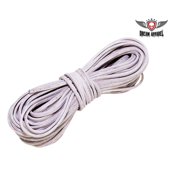 50 FT Leather Laces - Pink - Club Vest Biker Motorcycle Apparel & Accessories