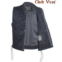 best-motorcyle-vest - Men's Denim Concealed Carry Pocket Vest by Club Vest® - Club Vest® - Mens Best Motorcycle Vests