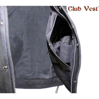 best-motorcyle-vest - Men's Split Leather Dual CCW Pocket With Jacket Zipper And Snap Vest by Club Vest® - Club Vest® - Mens Best Motorcycle Vests