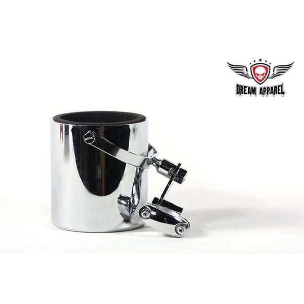 Chrome Motorcycle Cup Holder - Club Vest Biker Motorcycle Apparel & Accessories