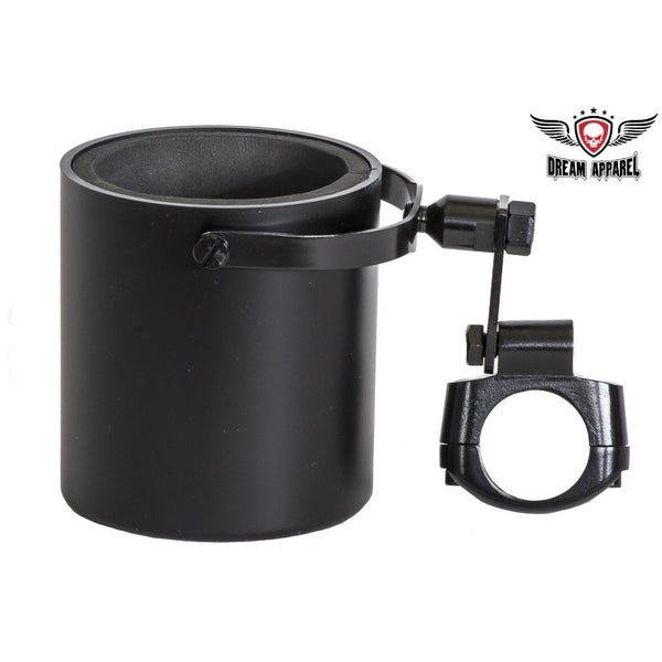 best-motorcyle-vest - Motorcycle Cup Holder Flat Black - Club Vest Biker Motorcycle Apparel & Accessories - cup holder