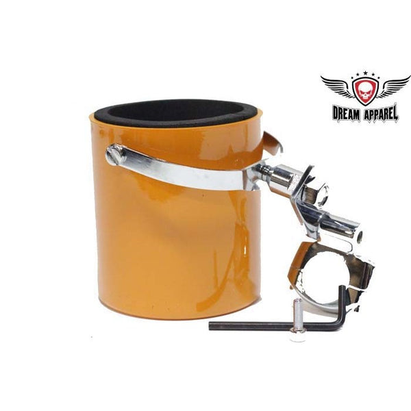 best-motorcyle-vest - Orange Motorcycle Cup Holder - Club Vest Biker Motorcycle Apparel & Accessories - cup holder