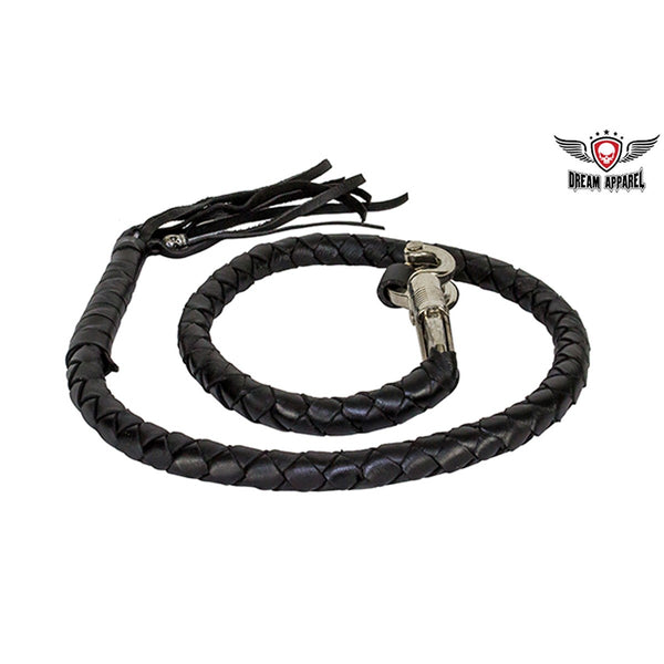 Black Get Back Whip For Motorcycles - Club Vest Biker Motorcycle Apparel & Accessories