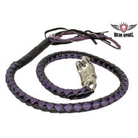 best-motorcyle-vest - Purple & Black Get Back Whip For Motorcycles - Biker Motorcycle Apparel & Clothing - get back whip