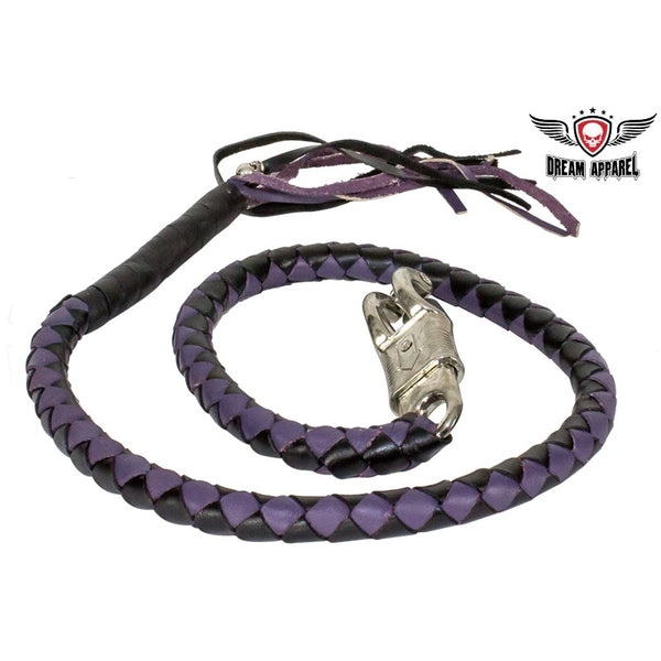 Purple & Black Get Back Whip For Motorcycles