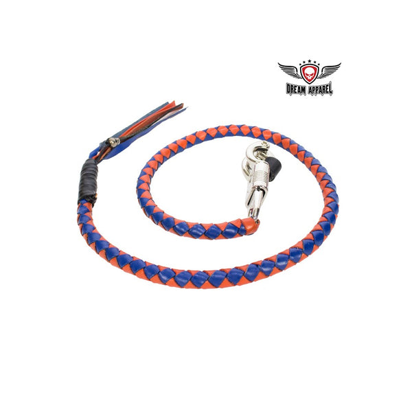 Blue & Orange Motorcycle Get Back Whip - Club Vest Biker Motorcycle Apparel & Accessories
