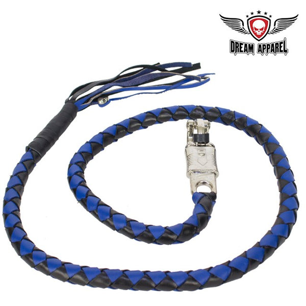 "best-motorcyle-vest - 50"" Inch Long Black And Blue Get Back Whip - Dream Apparel® - get back whip"