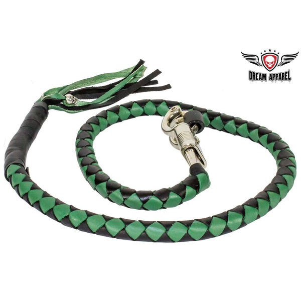Green & Black Get Back Whip For Motorcycles - Club Vest Biker Motorcycle Apparel & Accessories