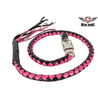 best-motorcyle-vest - Pink & Black Get Back Whip For Motorcycles - Biker Motorcycle Apparel & Clothing - get back whip