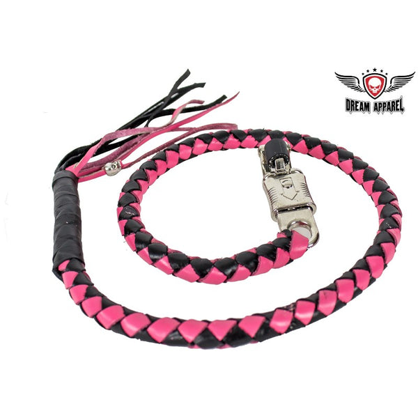Pink & Black Get Back Whip For Motorcycles