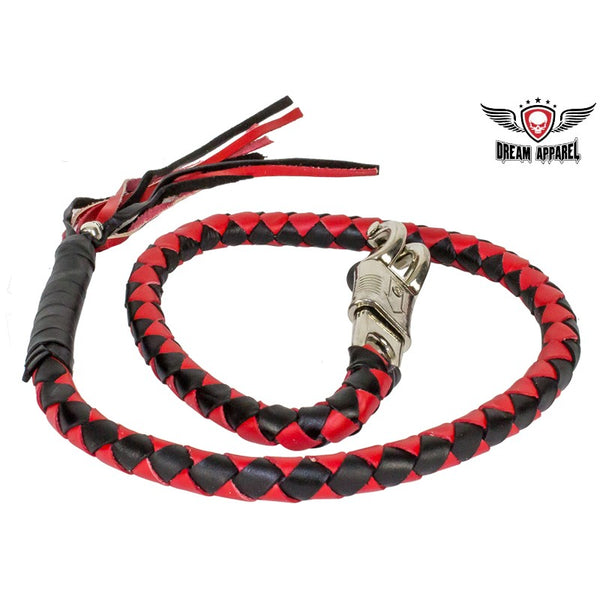 best-motorcyle-vest - Red & Black Get Back Whip For Motorcycles - Biker Motorcycle Apparel & Clothing - get back whip