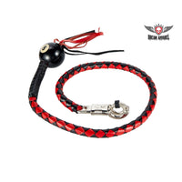 Red and Black Fringed Pool Black Ball 8 Get Back Whip