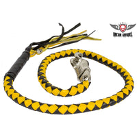 best-motorcyle-vest - Black & Yellow Get Back Whip For Motorcycles - Biker Motorcycle Apparel & Clothing - get back whip