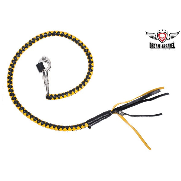 best-motorcyle-vest - Yellow & Black Get Back Whip For Motorcycles - Biker Motorcycle Apparel & Clothing - get back whip