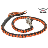 best-motorcyle-vest - Orange & Black Get Back Whip For Motorcycles - Biker Motorcycle Apparel & Clothing - get back whip