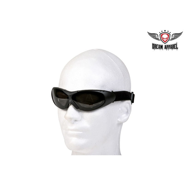 Motorcycle Padded Goggles With Smoked Lens