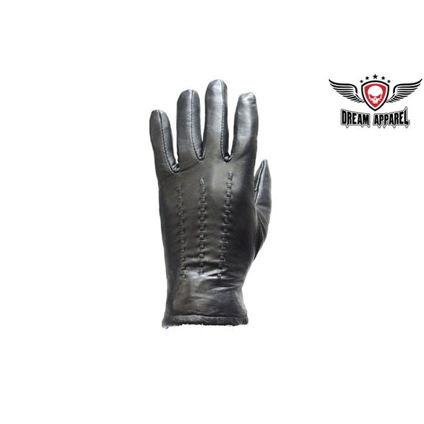 Women Full Finger Leather Motorcycle Gloves