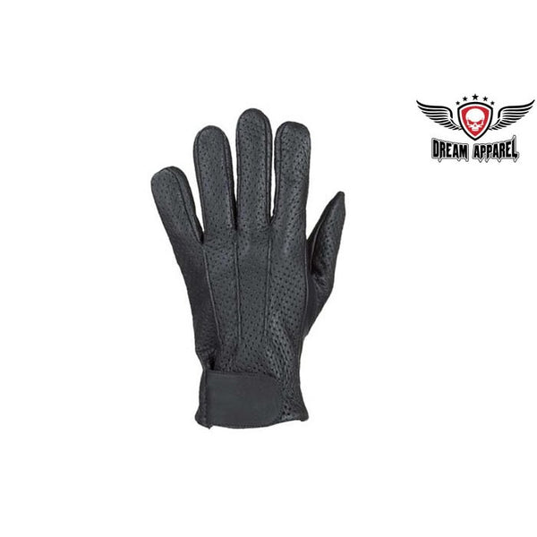 Motorcycle Driving Gloves With Airvet Holes & Velcro