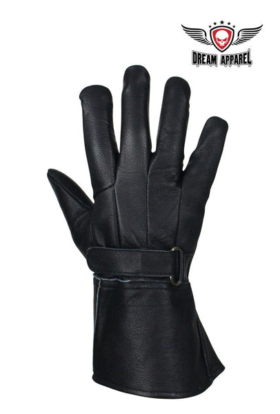 Full Finger Deer Skin Motorcycle Gloves