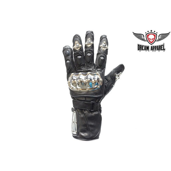 Double Velcro Strap Metal Protection Motorcycle Gloves - Club Vest Biker Motorcycle Apparel & Accessories