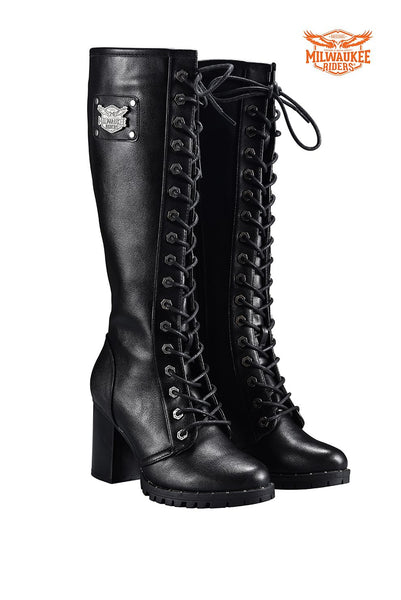 Womens Knee High Laced Boots By Milwaukee Riders