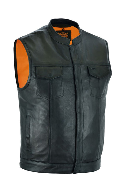 Milwaukee Riders CLUB VEST Gun Pockets, Premium Naked Cowhide Leather