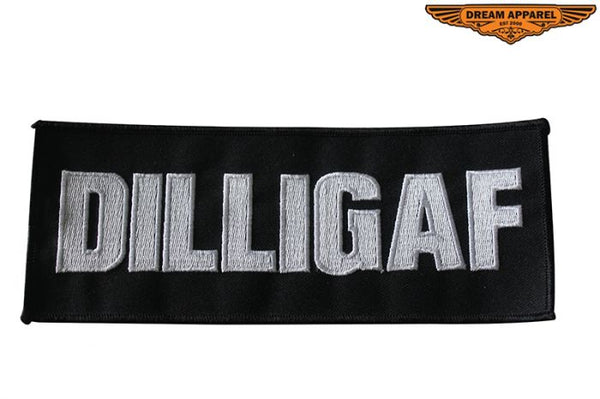 Large DILLIGAF Motorcycle Patch