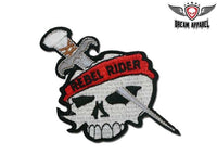 Rebel Rider Skull Motorcycle Patch