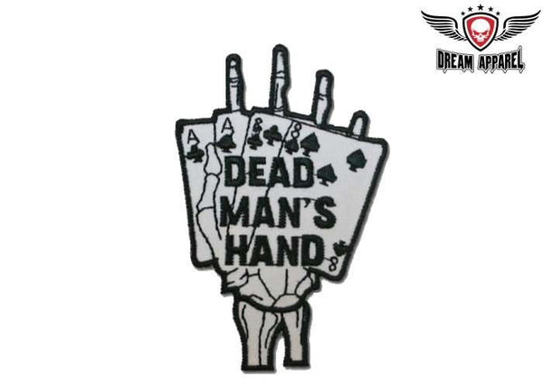 Dead Man's Hand Motorcycle Patch