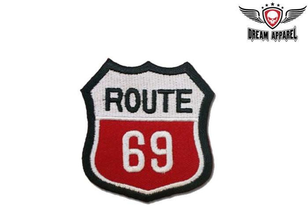 Route 69 Sign Motorcycle Patch