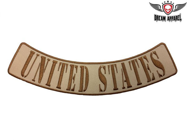 United States Desert Camo Bottom Rocker
