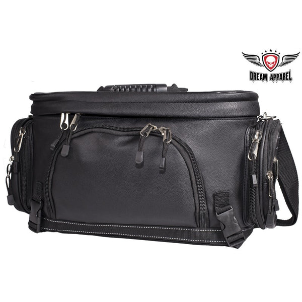 Classic Motorcycle Sissy Bar Trunk Bag With Rain Cover - Club Vest Biker Motorcycle Apparel & Accessories