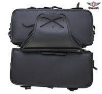 Black Concealed Carry Saddlebag with concealed carry holster