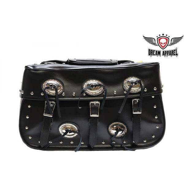 best-motorcyle-vest - Motorcycle Saddlebag With Studs - Club Vest Biker Motorcycle Apparel & Accessories - Motorcycle Bags
