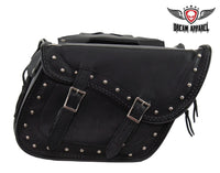 Naked Cowhide Motorcycle Saddlebag with Gun Holsters