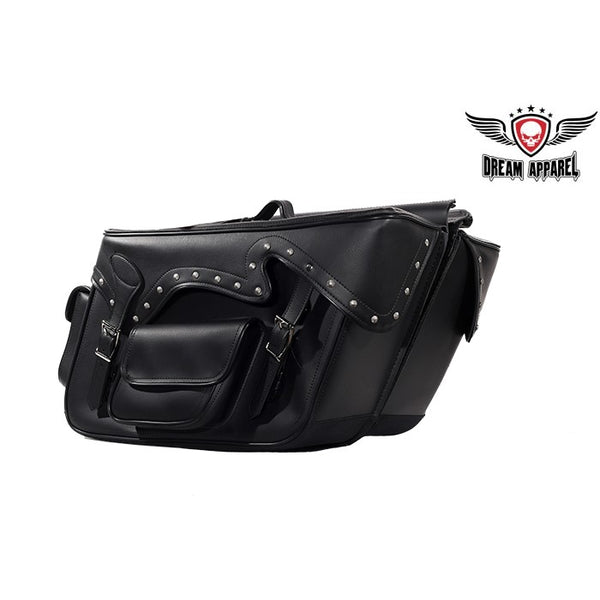 best-motorcyle-vest - PVC Motorcycle Throwover Saddlebag - Club Vest Biker Motorcycle Apparel & Accessories - Motorcycle Bags