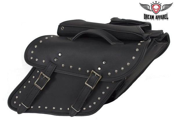 Studded Leather Dyna Saddlebag