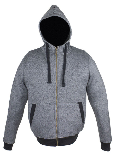 Two-Toned Gray Zippered Hoodie