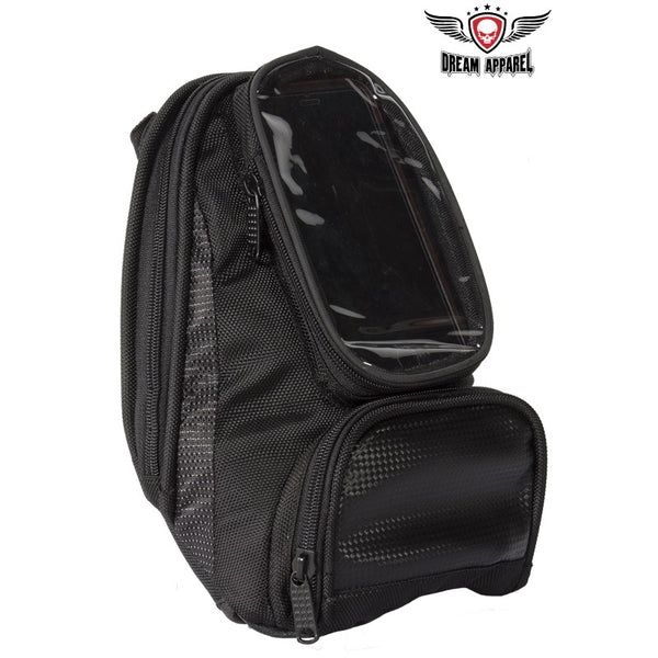best-motorcyle-vest - Magnetic Tankbag with Clear Window For GPS - Club Vest Biker Motorcycle Apparel & Accessories - Motorcycle Bags