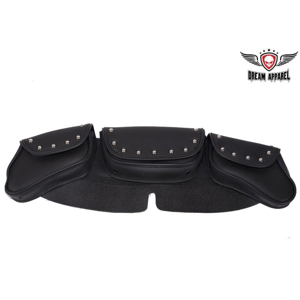 best-motorcyle-vest - PVC Motorcycle Windshield Bag With Studs - Club Vest Biker Motorcycle Apparel & Accessories - Motorcycle Bags