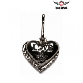Heart Zipper Puller With Love