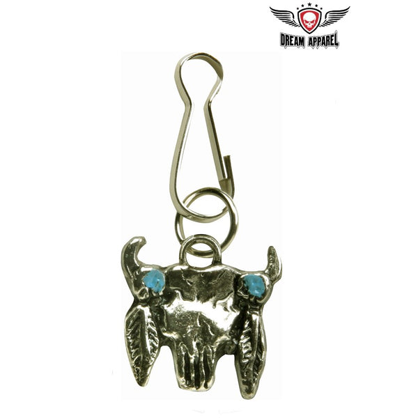 Steer Skull Zipper Puller