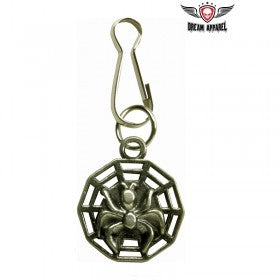 Spider On The Web Zipper Puller
